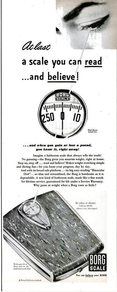 Borg-Ericson scale, circa 1950
