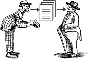 Communicating via a document (Portions of this image courtesy of Briar Press www.briarpress.org)