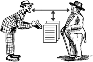 Using a document to supplement communications (Portions of this image courtesy of Briar Press www.briarpress.org)